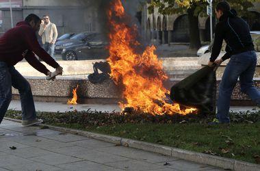 В Болгарии женщина устроила акт самосожжения у президентского дворца