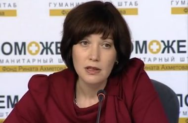 Пресс-брифинг Риммы Филь, координатора Гуманитарного штаба Рината Ахметова