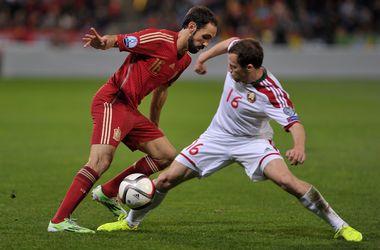 Сборная Испании разгромила Беларусь в отборе на Евро-2016