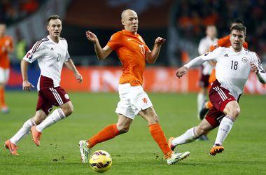 Голландия забила шесть мячей в ворота Латвии
