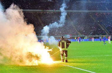 Фанаты едва не сорвали матч Италия - Хорватия