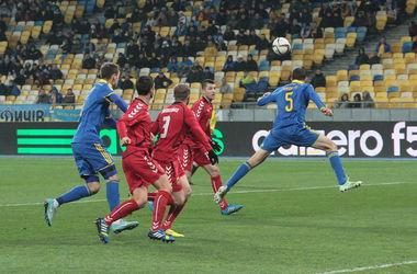 Сборная Украины  не смогла обыграть Литву