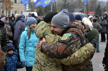 Как в Харькове встречали бойцов 22-го батальона