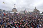 Колонна студентов киевских вузов присоединились к вече на Майдане