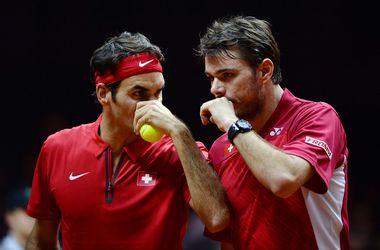 Федерер и Вавринка вывели Швейцарию вперед в финале Кубка Дэвиса