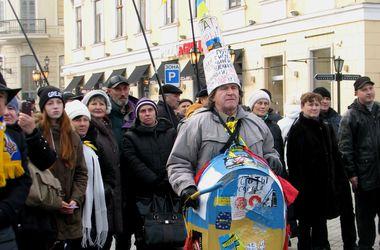 В Одессе состоялось народное вече в честь годовщины Майдана