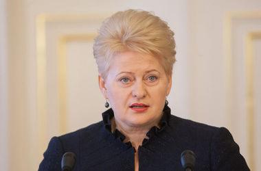 Грибаускайте выступает за оказание Евросоюзом военной помощи Украине