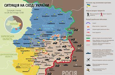 """Самые """"горячие"""" точки Донбасса 28 ноября: интерактивная карта"""