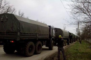 Под Донецком замечен  конвой из военных бензовозов и грузовиков - ОБСЕ