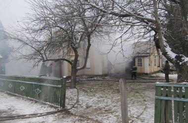 Под Киевом горел деревянный храм