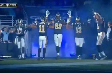 """Игроки """"Сент-Луиса"""" подняли руки в поддержку протестующих в Фергюсоне"""