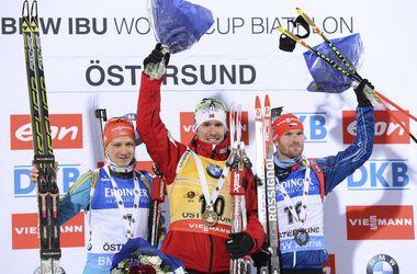 Первый подиум украинских биатлонистов в новом сезоне