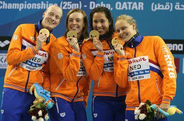 Голландские пловчихи установили мировой рекорд в эстафете
