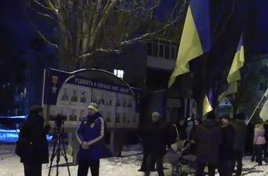 В Славянске Кобзона заменили на портрет сбитого летчика