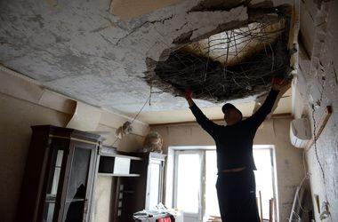 Последствия артобстрелов Донецка