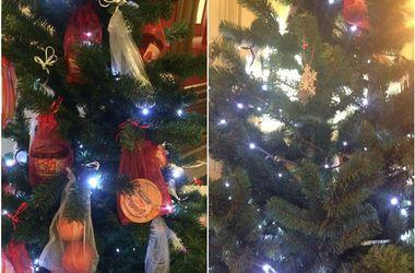 В московском ГУМе обокрали елку с запрещенными в РФ продуктами