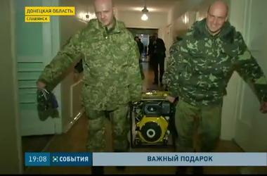 В детскую больницу Славянска сегодня привезли новый дизель-генератор