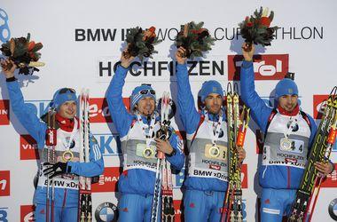 Россия выиграла мужскую эстафету Кубка мира по биатлону, Украина - девятая