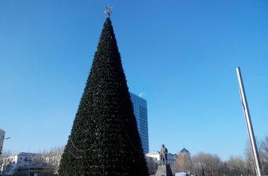 В Донецке установили новогоднюю елку