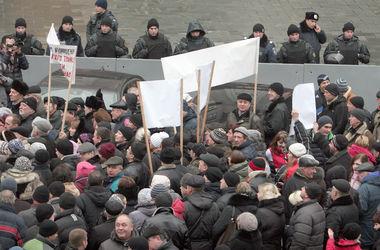 Как киевские транспортники требовали зарплат под Кабмином