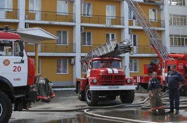 В Киеве горел крупный ТРЦ