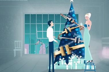 Подборка удивительных новогодних и рождественских роликов от известных брендов: Tiffany, Victoria's Secret, Dolce&Gabbana