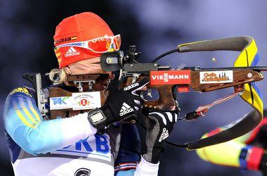 Валя Семеренко - бронзовый призер спринтерской гонки Кубка мира по биатлону