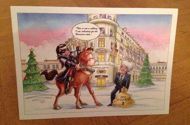 Босс Формулы-1 пошутил над собой в рождественской открытке
