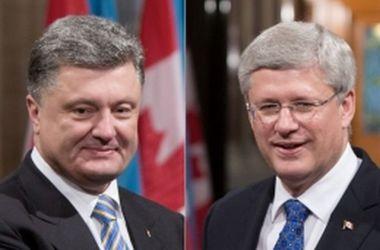 Порошенко поблагодарил Канаду за твердую поддержку Украины