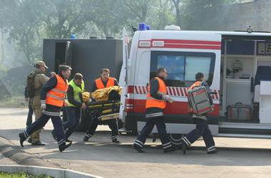 Киевские пожарные спасли из пылающей квартиры дедушку
