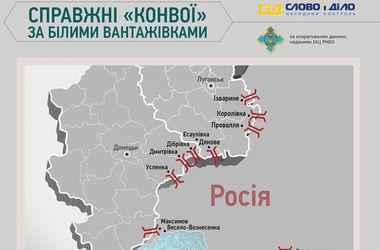 """Что везут в Украину настоящие """"конвои"""" РФ (инфографика)"""