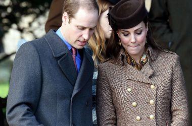 Принц Уильям и беременная Кейт Миддлтон посетили рождественскую службу