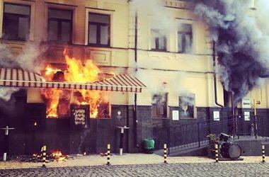 После праздников сгоревший ресторан в Киеве обещают открыть после праздников
