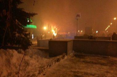 В центре Харькова вспыхнул пожар