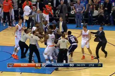Украинец Лэнь устроил драку в матче НБА