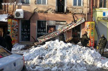 В центре Одессы обрушился балкон