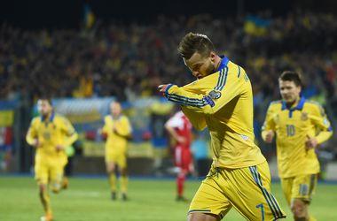 Сборная Украины в рейтинге ФИФА на 25-м месте