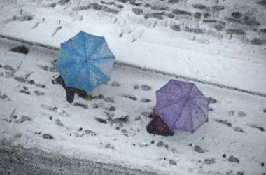 В Украине ожидается дождь с мокрым снегом и метель