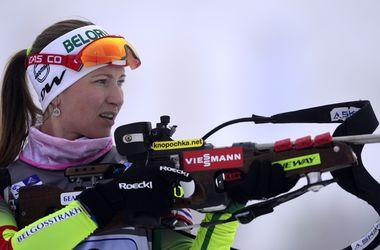 Дарья Домрачева выиграла масс-старт Кубка мира по биатлону