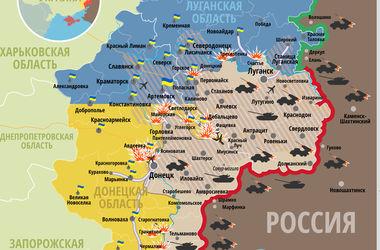 """Самые """"горячие"""" точки Донбасса 12 января: интерактивная карта"""
