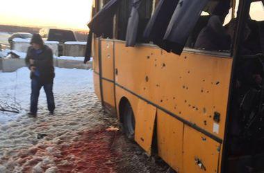 Що залишилося від розстріляного автобуса під Волновахою