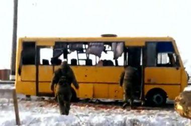 Теракт под Волновахой: кадры с места трагедии