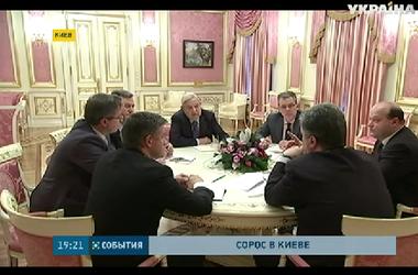 Джорж Сорос встретился в Киеве с Порошенко