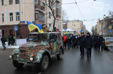 Харьковские активисты подарила бойцам УАЗ
