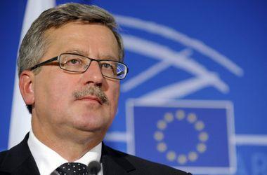 ЕС имеет рычаги влияния на Грецию для сохранения европейского единства - Коморовский