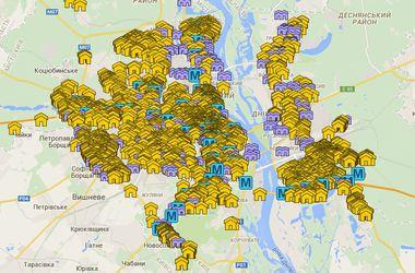 В Киеве появилась интерактивная карта с адресами подземных укрытий