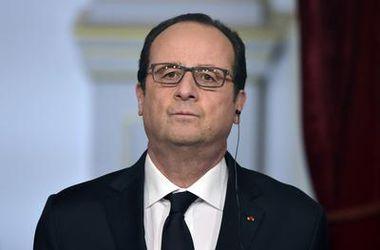 Президент Франции Франсуа Олланд уже вылетел в Киев