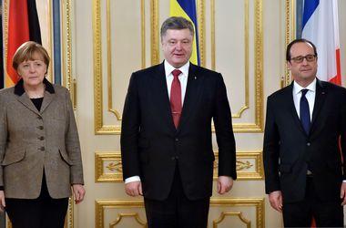 С надеждой на мир: Началась встреча Порошенко с Меркель и Олландом