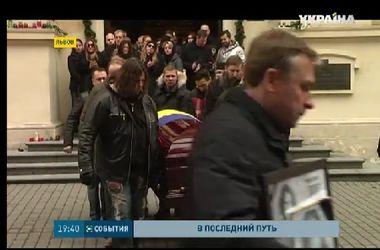 """Лидера группы """"Скрябин"""" сегодня похоронили на Брюховецком кладбище вблизи Львова"""