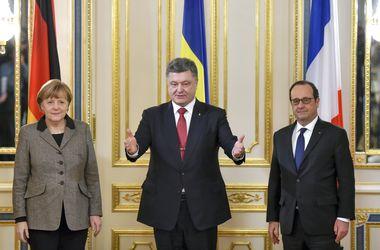 Меркель и Олланд уехали от Порошенко молча